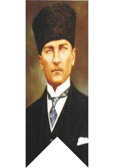 Antalya Dünya Bayrak Atatürk Kalpaklı Posteri Kırlangıç Bayrağı 100 x 300 cm