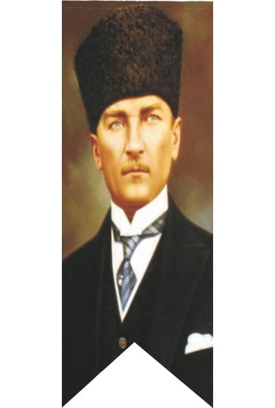 Antalya Dünya Bayrak Atatürk Kalpaklı Posteri Kırlangıç Bayrağı 70 x 200 cm