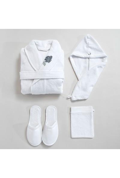 Basics By Chakra Hermosa Bornoz Seti Beyaz
