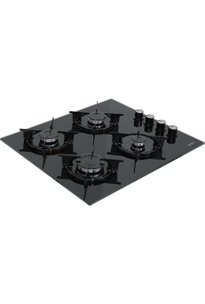 Ukinox Felix 60 cm Siyah Cam Ocak - Doğalgaz