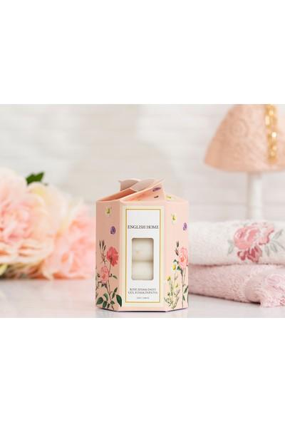 English Home Gül-Susam-Papatya Özlü Katı Sabun 4 x 45 gr Beyaz