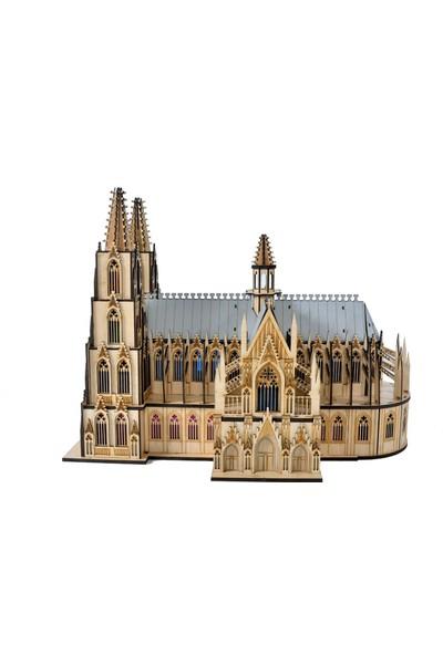 Dijital ID 3D Puzzle Model Maket Notre Dame Katedral
