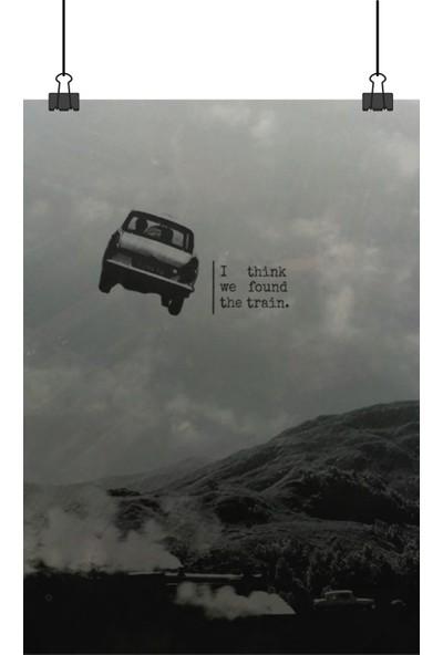 Harry Potter Uçan Araba Ile Hogwarts Trenini Yakaladıkları An 48 x 33 cm Posteri