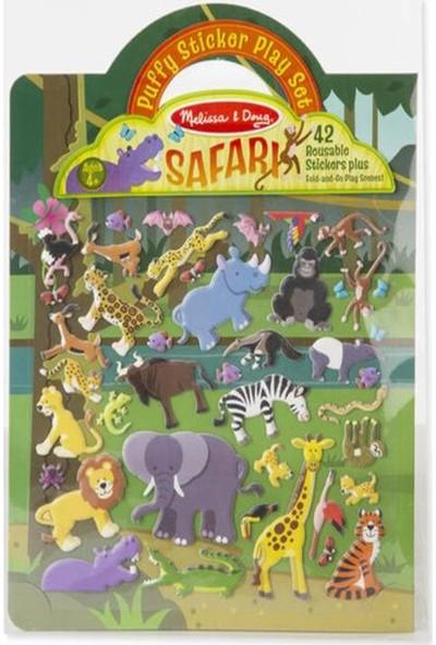 Melissa&Doug Kabartmalı Tak Çıkar Çıkartma Seti Safari MD009106