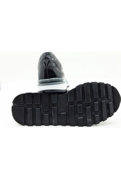 Nbn Marka Vega Model Siyah Günlük Spor Ayakkabı Rugan Klasik Model