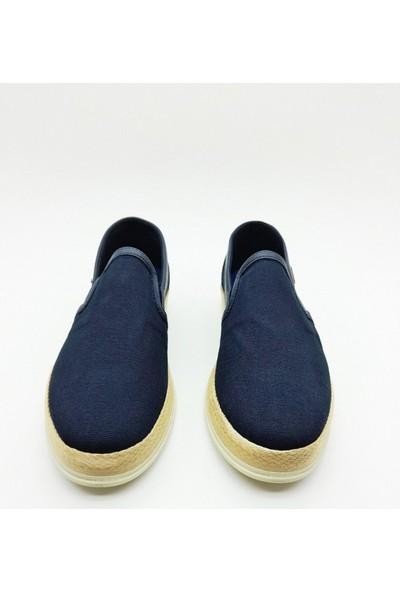 Nbn Marka Saldo Model Lacivert Günlük Yazlık Spor Ayakkabı Keten Malzeme