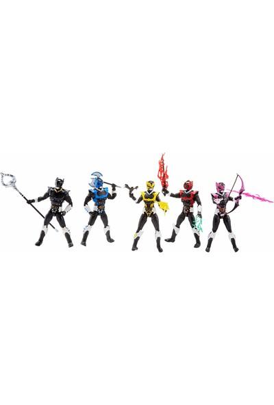 """Hasbro Power Rangers Lightning Collection 6"""" In Space Psycho Rangers 5'li Paket Premium Koleksiyon Aksiyon Figür"""