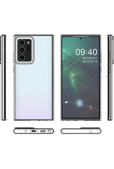 Tekno Grup Samsung Galaxy Note 20 Ultra Kılıf Lüx Silikon Kılıf + Tam Kaplayan 6D Polymer Nano Ekran Koruyucu Şeffaf