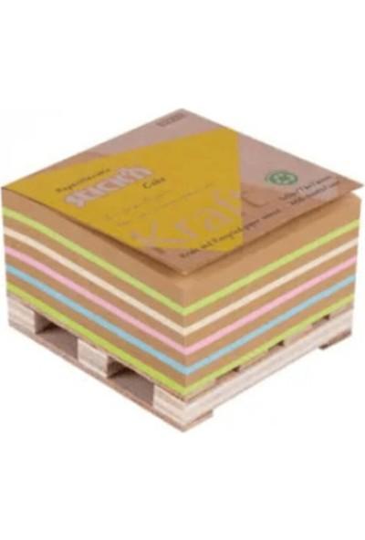 Stickn Recy Küp Not Kraft + 4renk 400 Yaprak Not Kağıdı 4-2181700-5001 76 x 76 mm