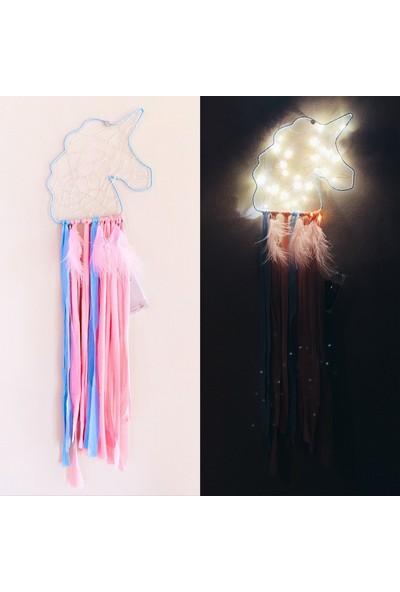 Şeker Ofisi Unicorn Ledli Dekoratif Işıklı Düş Kapanı