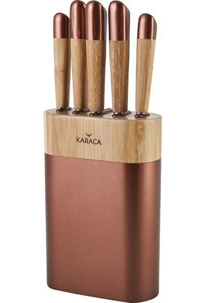 Karaca Maple Rosegold 6 Parça Bıçak Seti