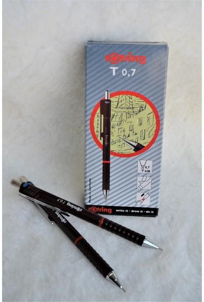 Rotring T 0.7mm Uçlu Kalem Kahverengi 10'lu