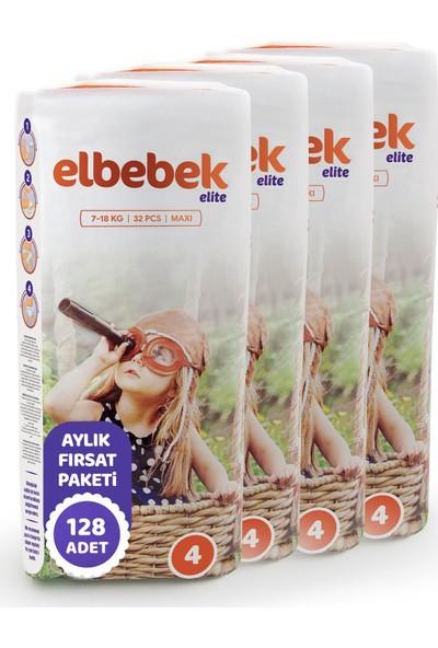 Elbebek Elite Bebek Bezi 4 Numara Maxi 128 Adet