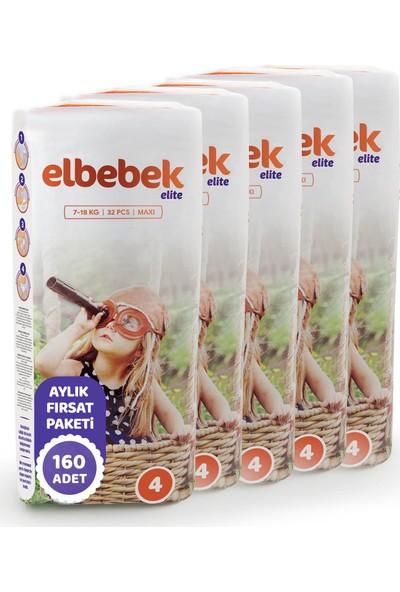 Elbebek Elite Bebek Bezi 4 Numara Maxi 160 Adet
