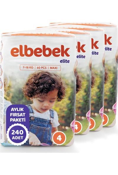 Elbebek Elite Bebek Bezi 4 Numara Maxi 240 Adet