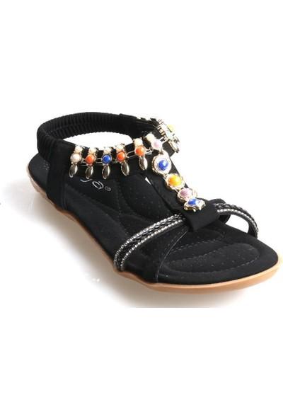 Guja 20Y201-8 Siyah Kız Çocuk (31-36) Günlük Sandalet