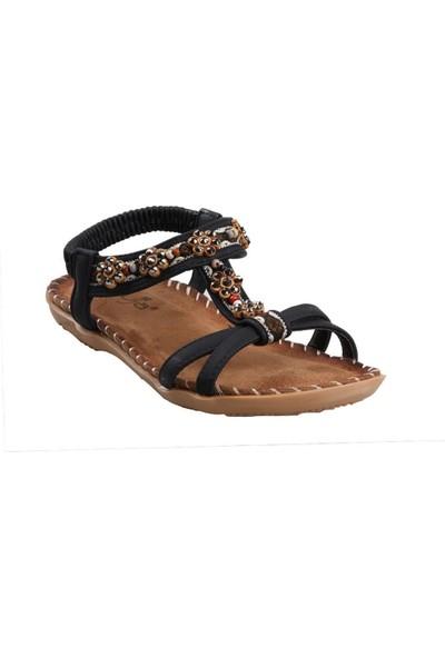 Guja 20Y153-10 Siyah Kız Çocuk (31-36) Günlük Sandalet