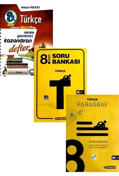 Çanta Yayınları 8. Sınıf Türkçe Defteri Hız Yayınları Soru Bankası+Paragraf Seti