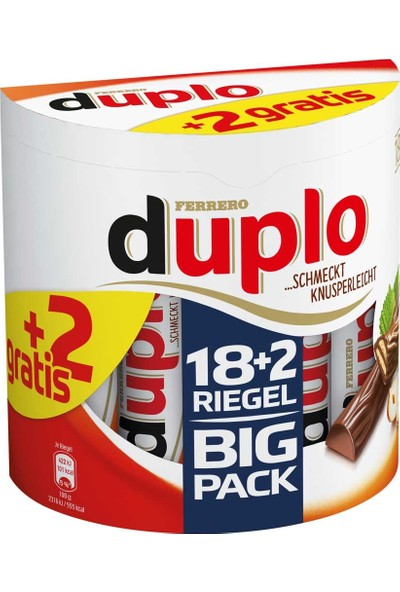 Ferrero Duplo Big Pack (18+2) Fındık Kremalı Çikolata 364 g