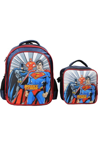 Öykü Batman ve Superman Okul Çantası ve Beslenme Çantası Ilkokul Takımı