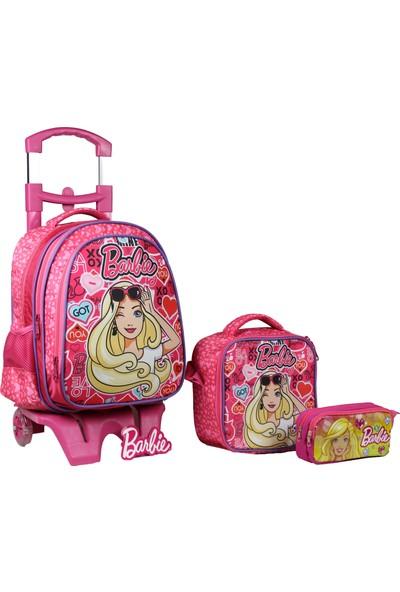 Öykü Barbie Çekçekli Okul Çantası Takımı
