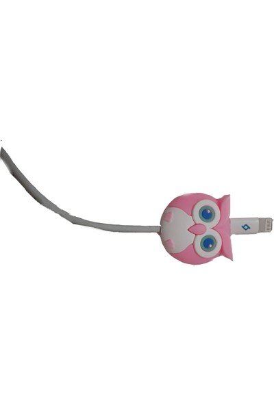 Mkey Sevimli Baykuş Figürlü USB Kablo Koruyucu
