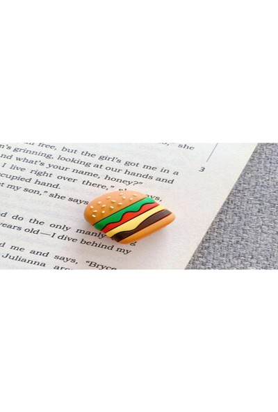 Mkey Sevimli Hamburger Figürlü USB Kablo Koruyucu
