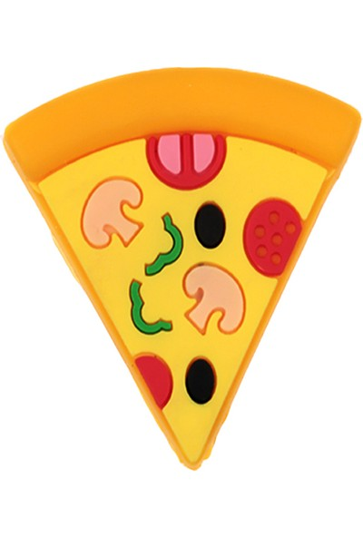 Mkey Sevimli Pizza Figürlü USB Kablo Koruyucu