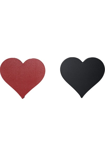Özcan Gencer Art Renkli Kalp Tuval Kalp Tuval Siyah