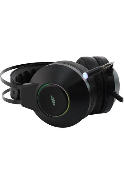 MF Product Strike 0161 Rgb Kablolu Kulak Üstü Gaming Kulaklık 7.1 Usb Siyah