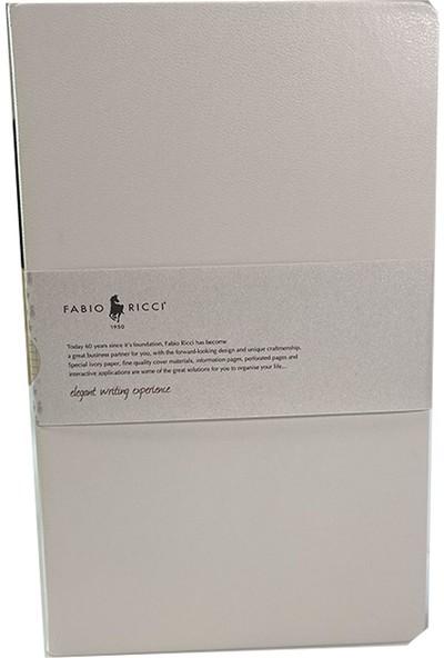 Fabio Ricci Elio Sert Kapak Beyaz Kareli Defter 1044 13 x 21 cm