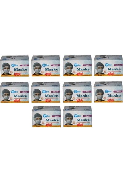Rabır Telli Cerrahi Maske 3 Katlı 500 Adet (Aparat Hediyeli)