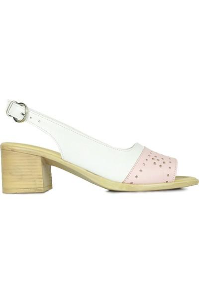 Erkan Kaban 7293 763 Kadın Pudra White Topuklu Ayakkabı