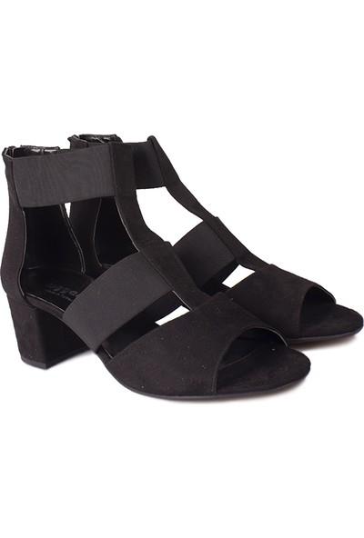 Loggalin 111212 008 Kadın Siyah Topuklu Sandalet