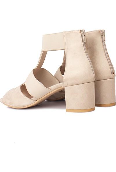 Loggalin 111212 327 Kadın Ten Topuklu Sandalet