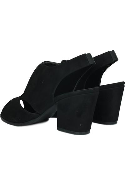 Loggalin 430606 008 Kadın Siyah Süet Summer Sandalet