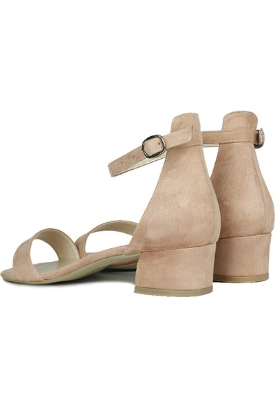 Loggalin 520033 727 Kadın Pudra Süet Topuklu Ayakkabı