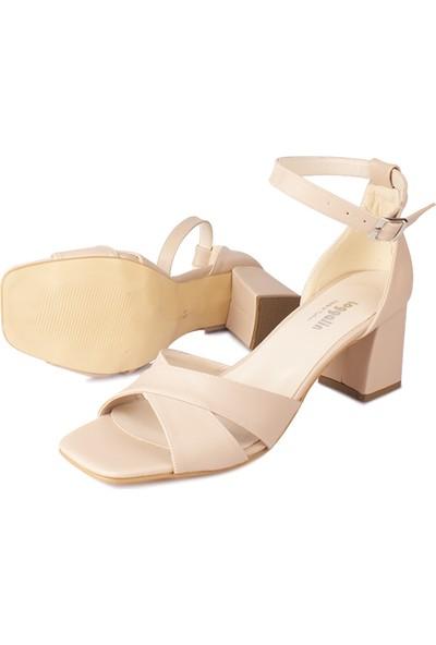 Loggalin 520060 319 Kadın Ten Sandalet