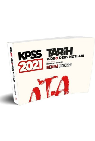 Benim Hocam Yayınları 2021 Kpss Tarih Video Ders Notları - Ramazan Yetgin