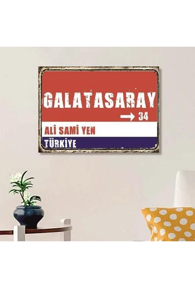 Ferman Hediyelik Galatasaray Tabelası Ahşap Retro Poster