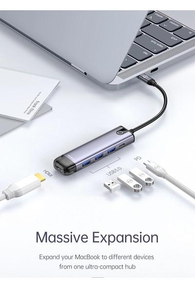 Mcdodo 5in1 Type C Macbook Çevirici Çoklayıcı Adaptör HU-7750