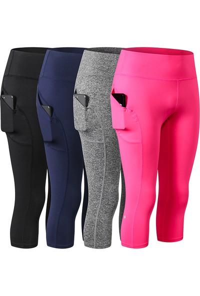 Lixada Kadın Yoga Pantolon Cepler ile Yüksek Bel Sportif