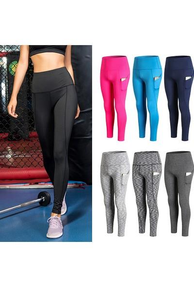 Buyfun Kadın Yüksek Bel Yoga Pantolon Çabuk Kuru Spor Pantolon