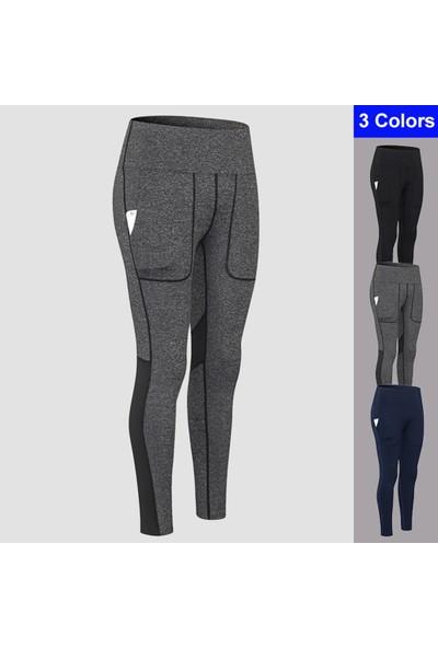 Buyfun Kadın Yoga Pantolon Cepler ile Yüksek Bel Sportif