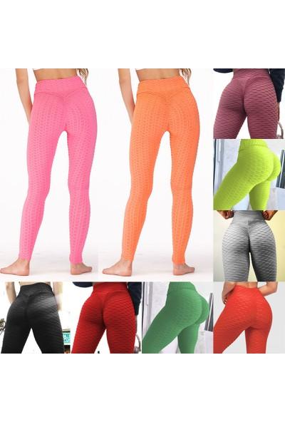 Buyfun Kadın Yoga Pantolon Push Up Sportif Tayt Tayt Streç