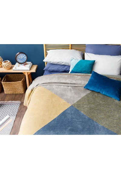 English Home Creative Pamuklu Tek Kişilik Battaniye 150 x 200 cm Lacivert