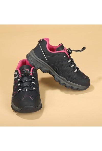 Jump 25814 Termal Astar Kız Erkek Çocuk Spor Bot Ayakkabı Siyah -Fuşya