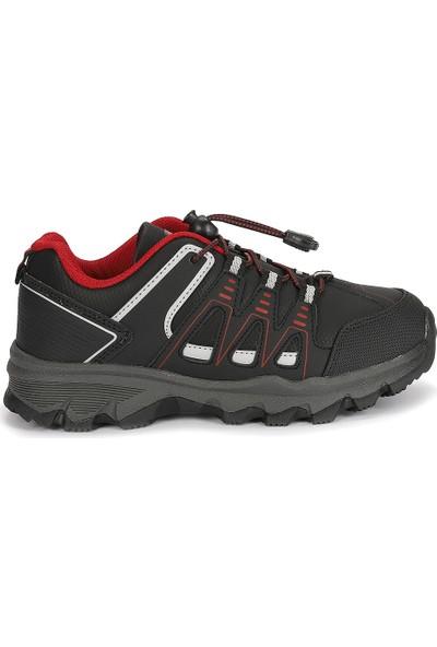 Jump 25814 Termal Astar Kız Erkek Çocuk Spor Bot Ayakkabı Siyah-Kırmızı