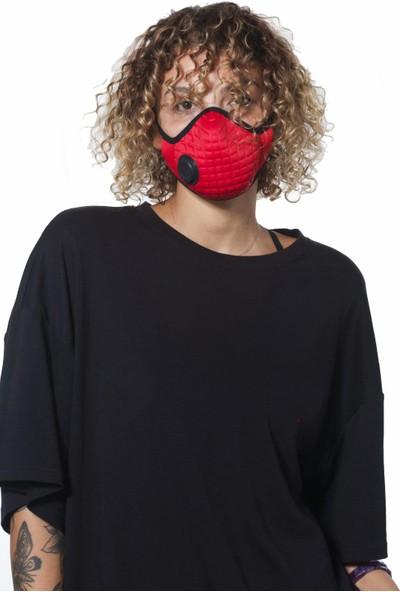 Oxy Ayarlanabilen Filtreli Kırmızı Yıkanabilir Maske