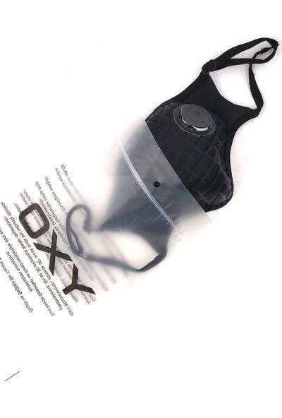Oxy Ayarlanabilen Filtreli Siyah Yıkanabilir Maske